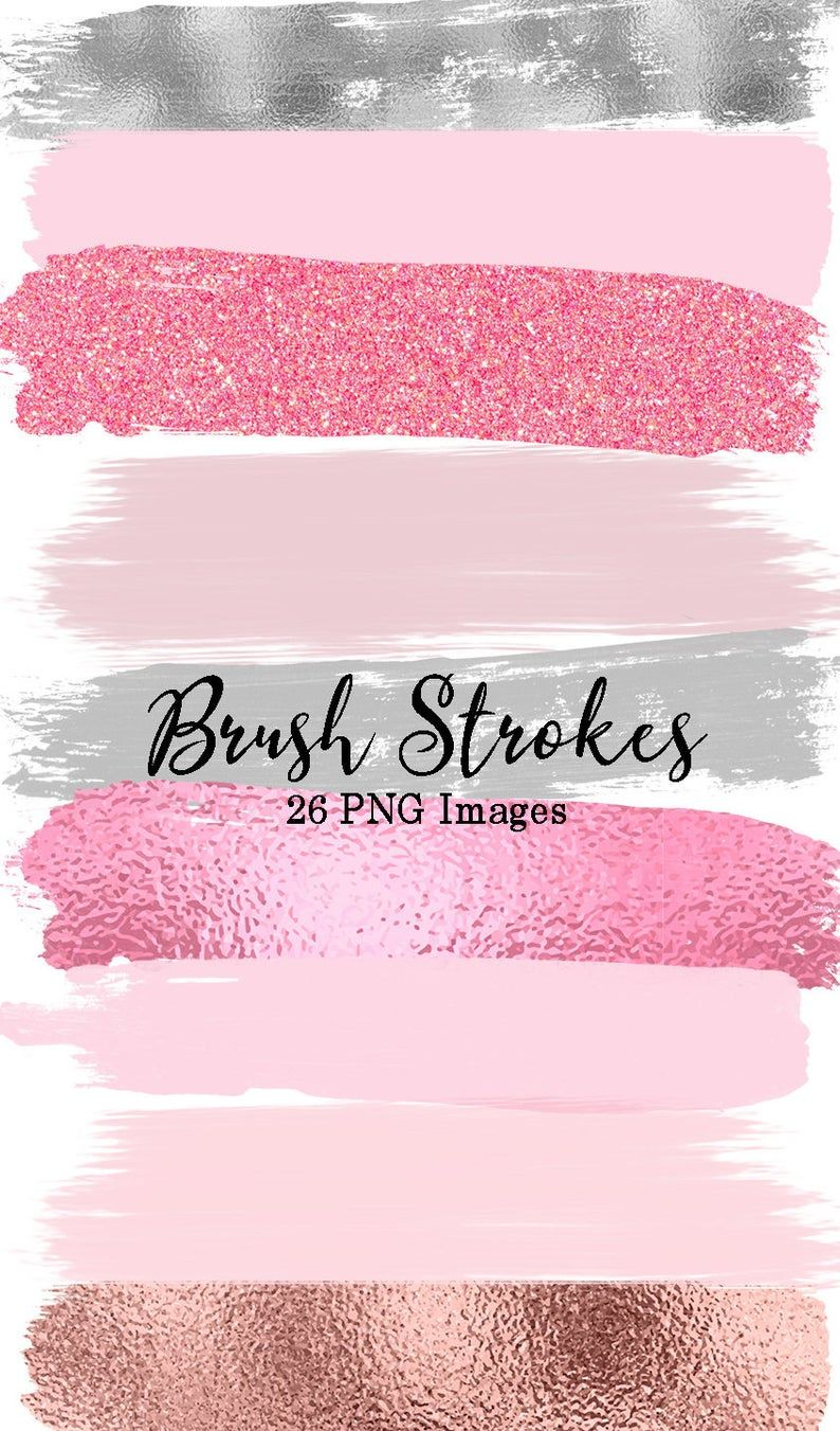 Pink Gray Brush Strokes Clip Art 27 Hand Painted Pink Glitter Etsy In 2020 Brush Strokes Clip Art Pink Wallpaper Iphone