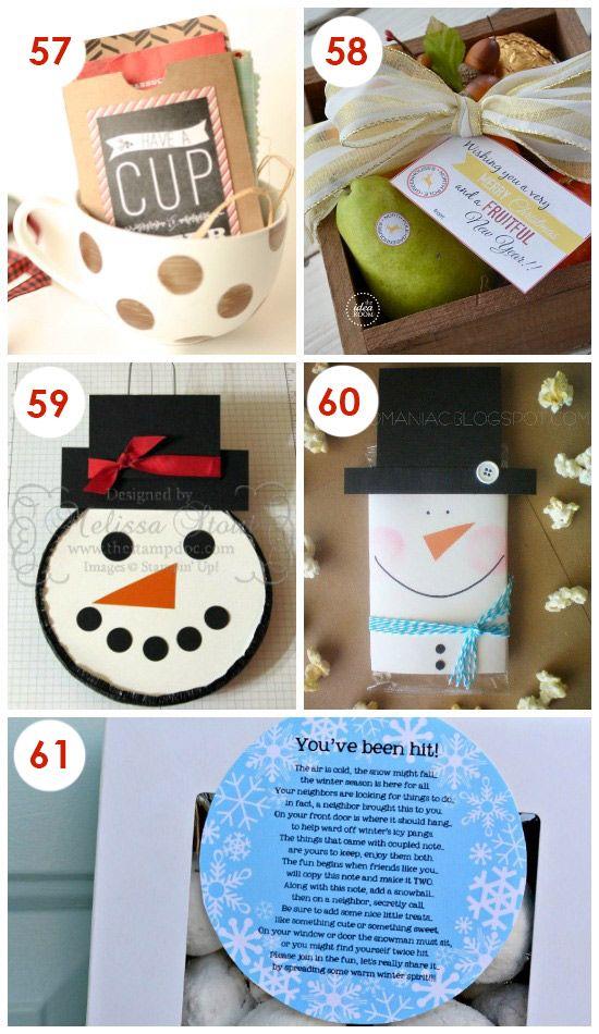 101 Quick and Easy Christmas Neighbor Gifts | christmas | Pinterest ...