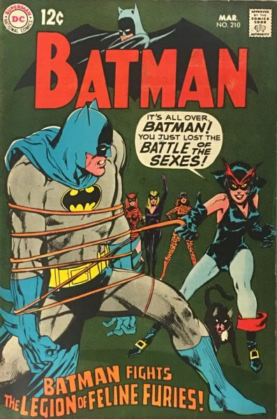 Batman v.1 #210 (March 1969), cover by Neal Adams and Gaspar Saladino