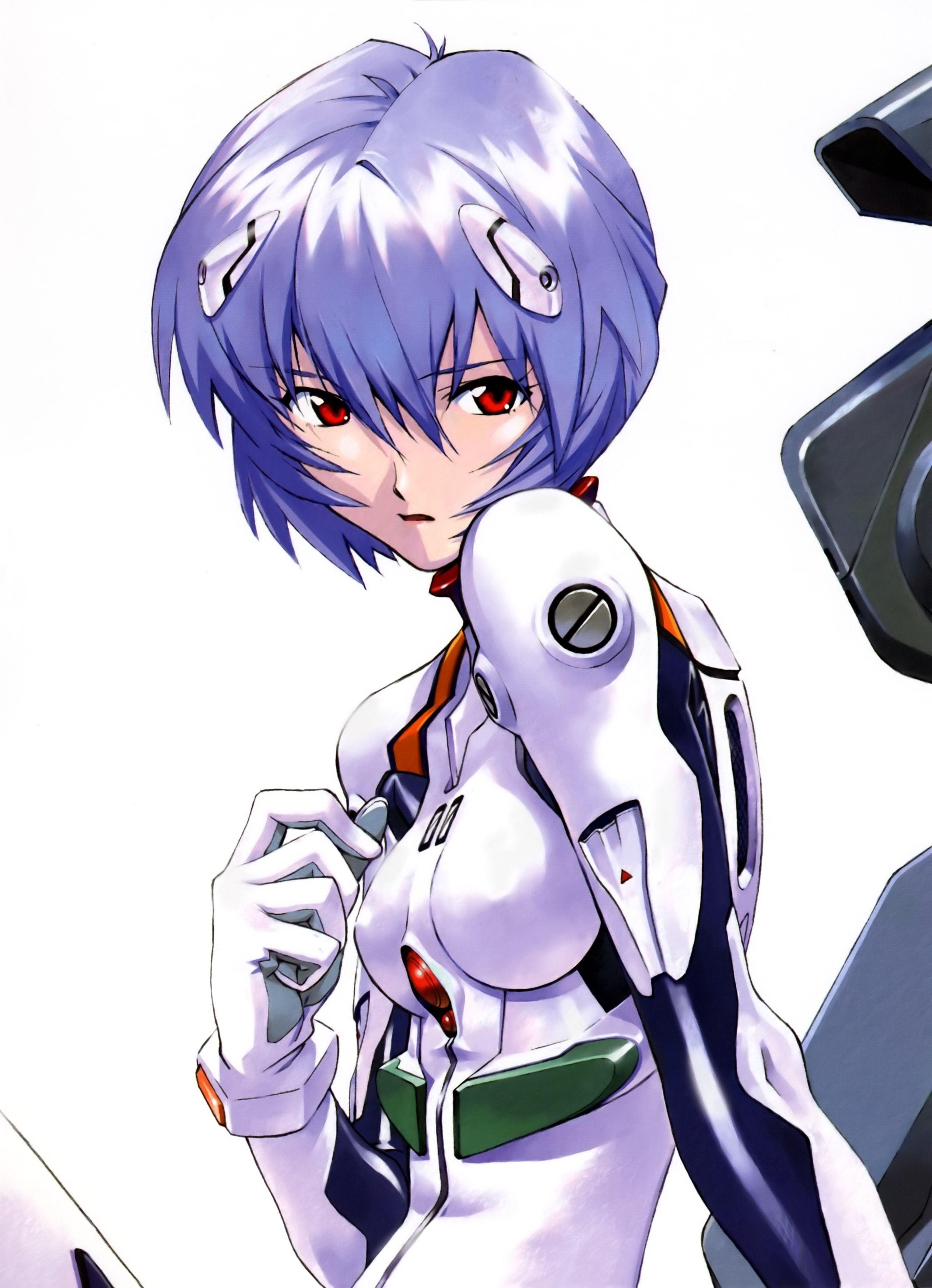 Anime 2665x3683 Neon Genesis Evangelion Ayanami Rei Simple Background Neon Evangelion Neon Genesis Evangelion Evangelion