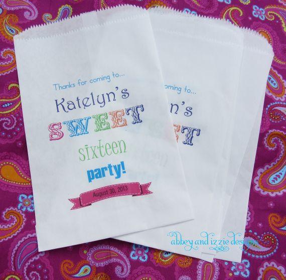 Sweet 16 Birthday | Sweet 16 Party | Sweet 16 Favor Bags ...