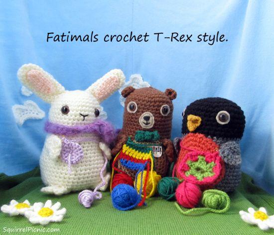 Fatimals crochet T-Rex Style, adorable little critters