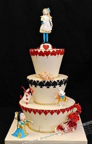 Alice in Wonderland cake by bobbi