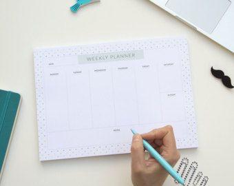 weekly planner pad weekly schedule maker weekly organizer pad 7