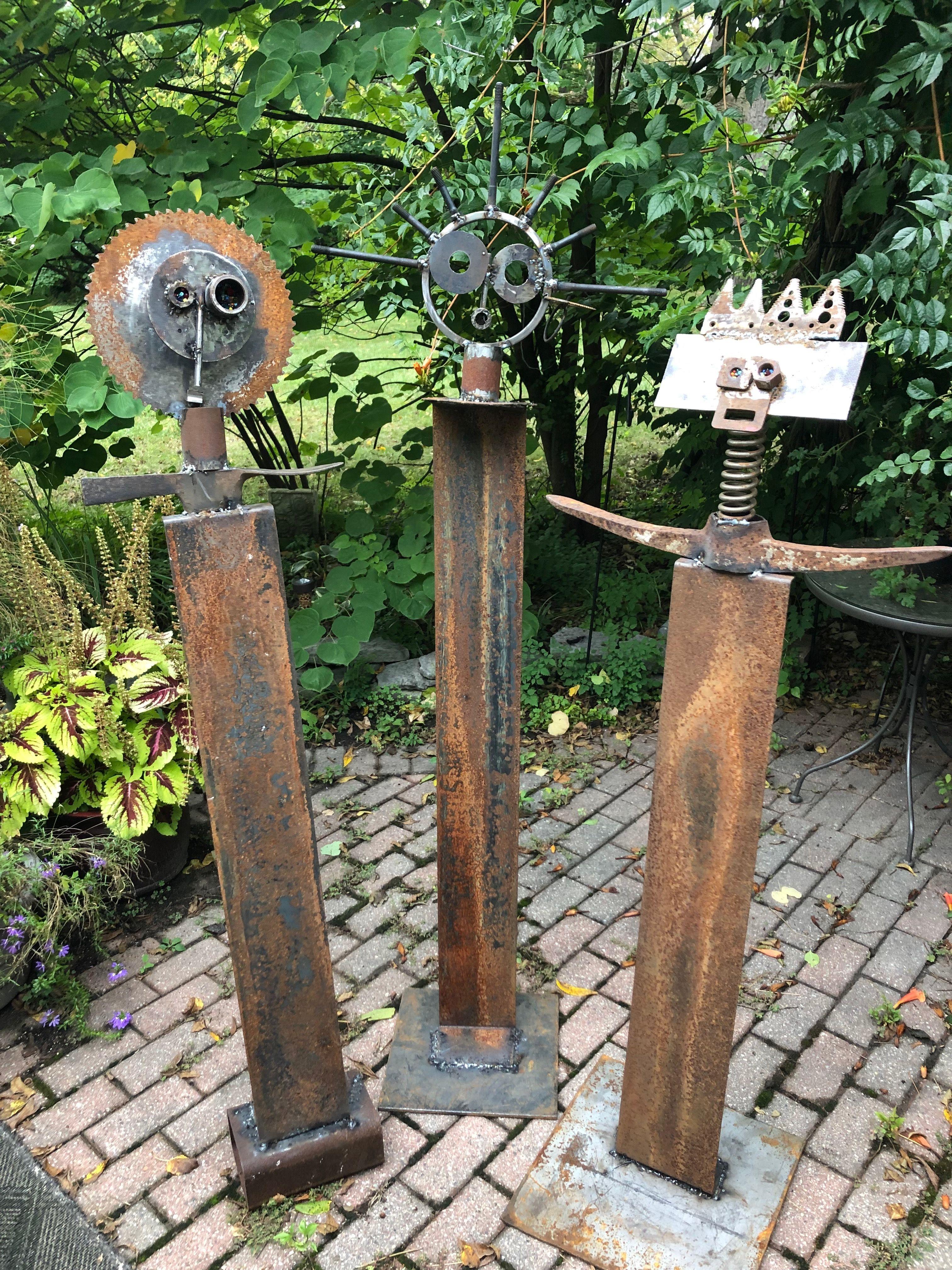 The Three Mind Like A Diamond Sharp As A Tack And Stacey Metall Gartenkunst Gartendeko Metall Kunst Aus Metall