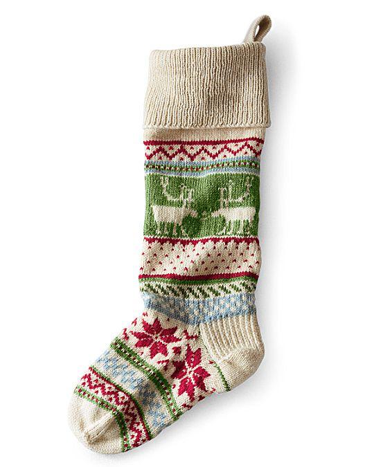 Garnet Hill Fair Isle Woolen Stocking | Christmas | Pinterest ...