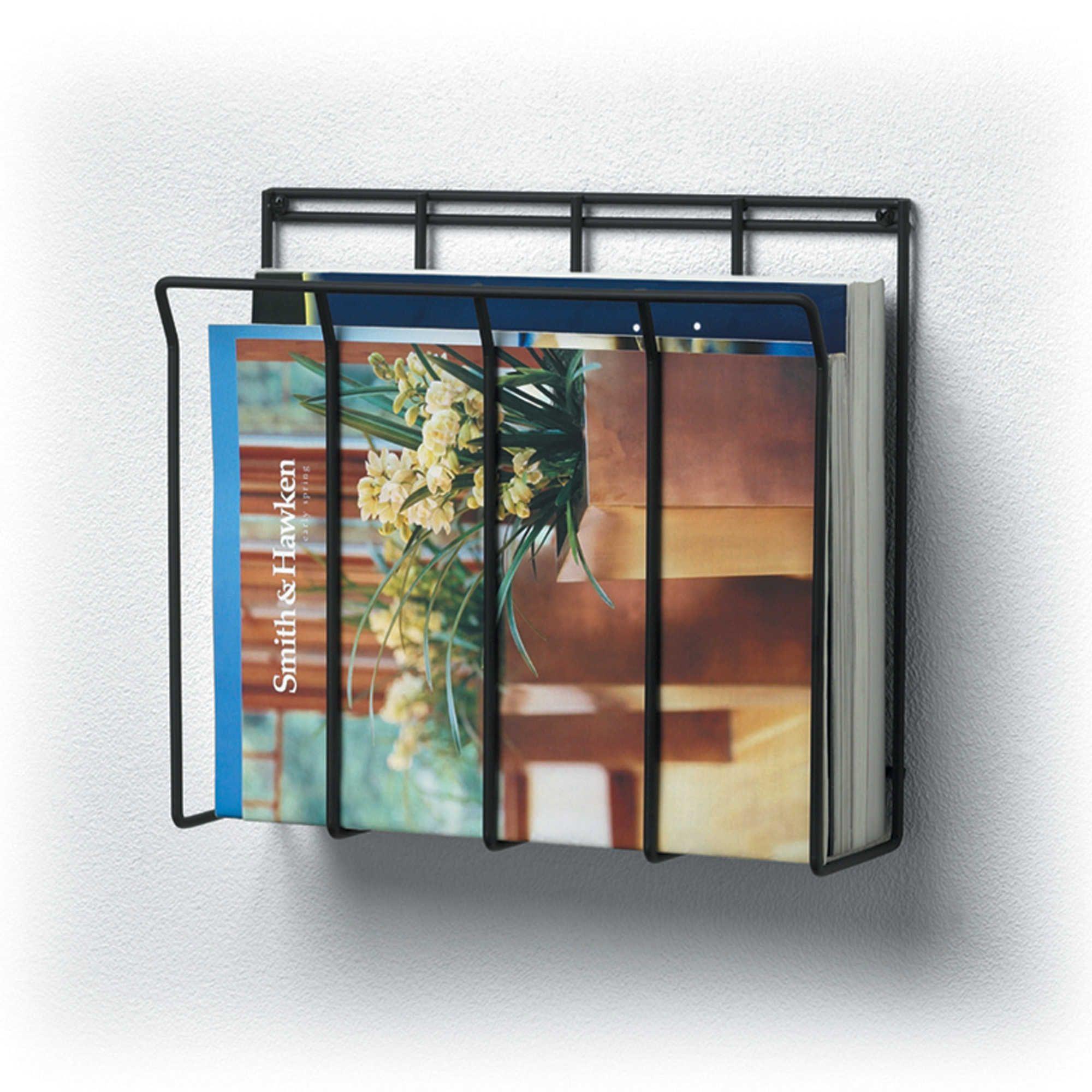 rack cosmecol wall for mount magazine model bathroom mounted