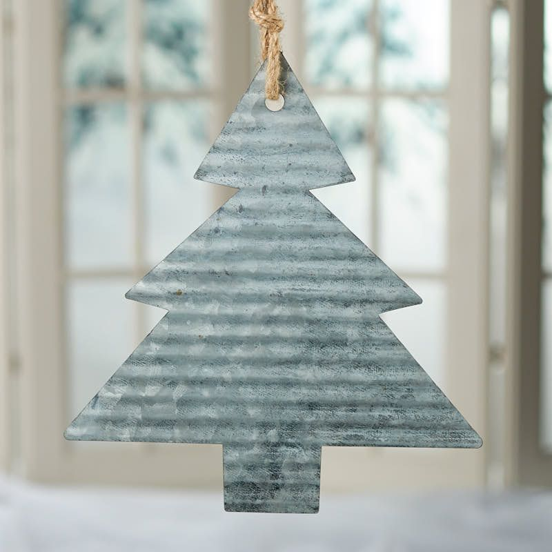 Corrugated Galvanized Metal Christmas Tree Ornament | Simple ...