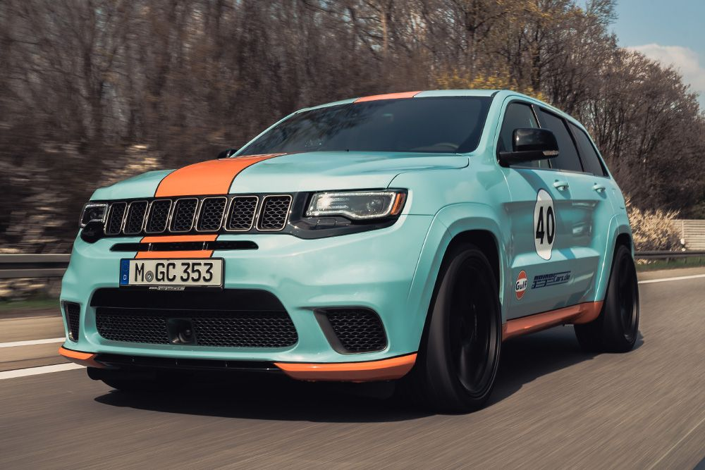 Geigercars Gives The Jeep Trackhawk A Gulf Oil Livery 900hp