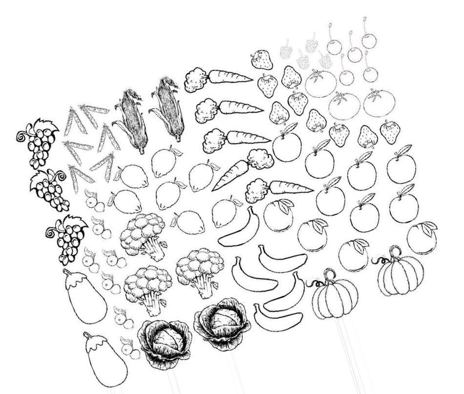 Раскраски овощи и фрукты | Раскраски, Картинки и Овощи