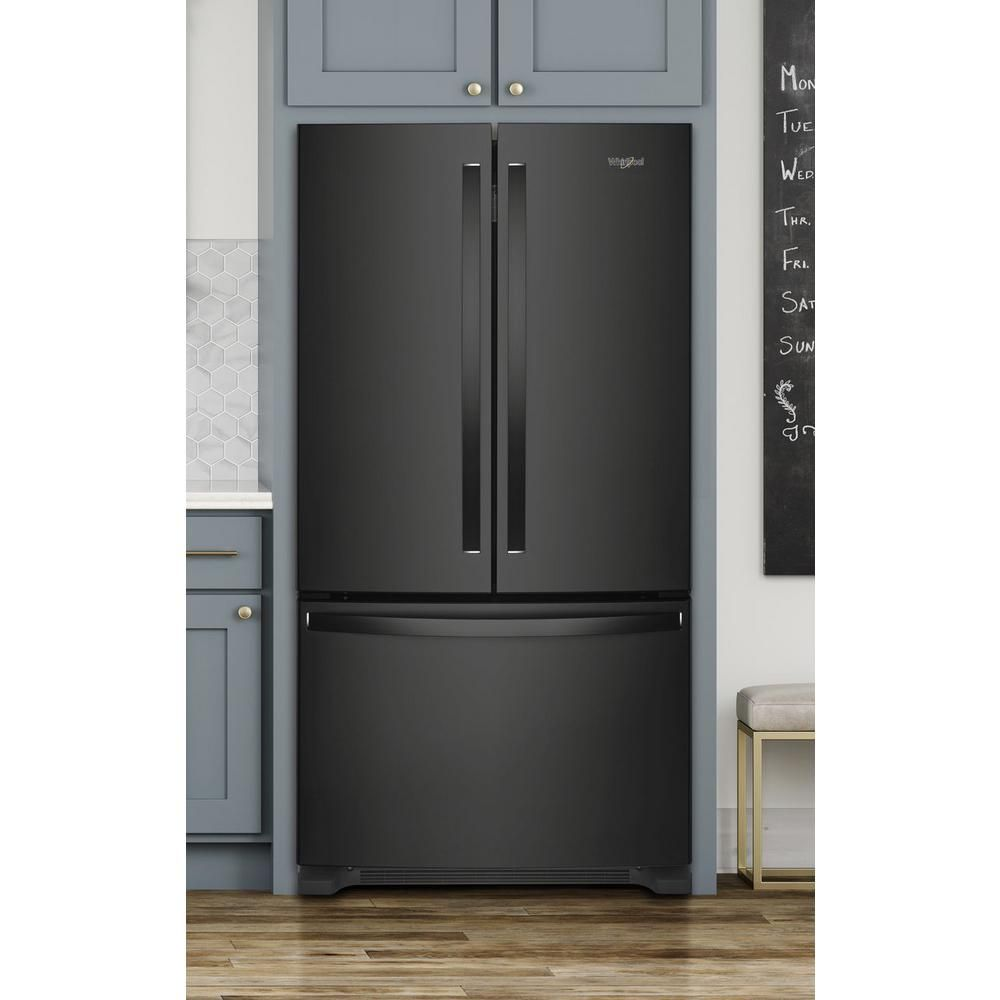 Whirlpool 20 Cu Ft French Door Refrigerator In Black With