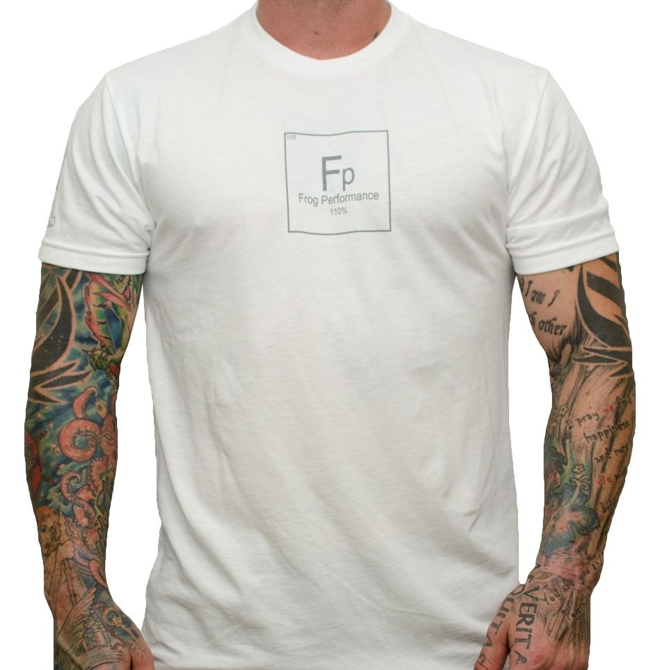 Fp Periodic Table of Elements T-Shirt.  Should be good for a minute off your 10k or 3-5 max pull-ups. If not, get some FF too.