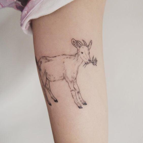 Little Goat Tattoo People Toronto Jess Chen Farm Tattoo Body Art Tattoos Tattoos