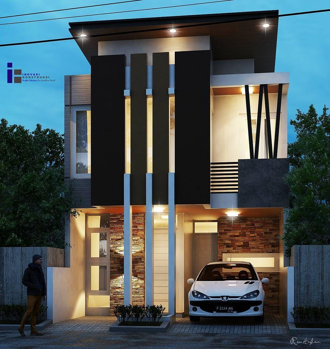 Desain Rumah Minimalis Modern 2 Lantai Bunglows House Design