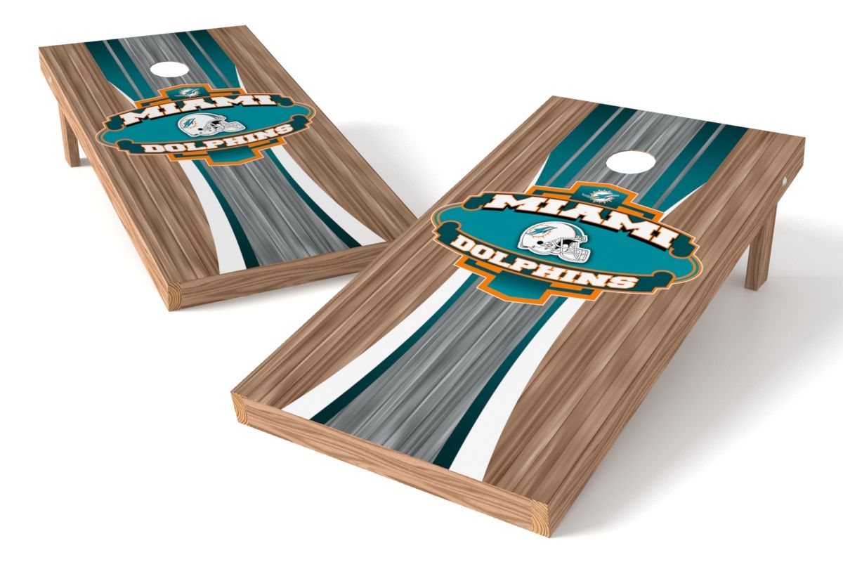 Miami Dolphins Cornhole Board Set - Wood http://prolinetailgating.com/