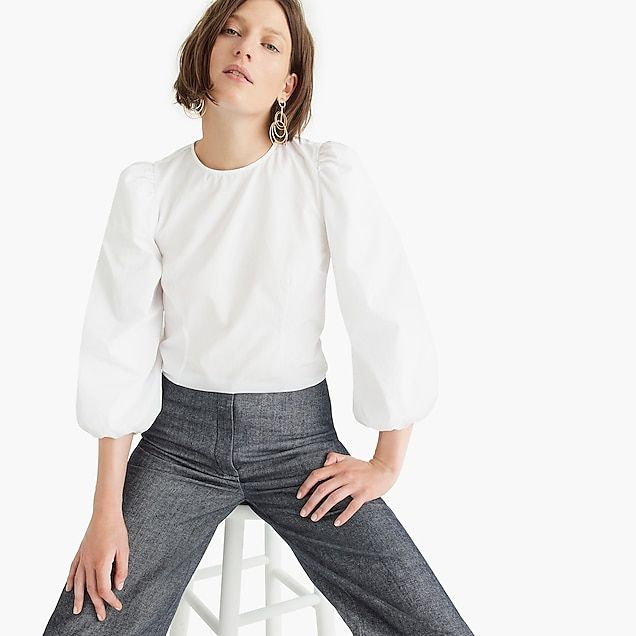 Women s Thomas Mason® For J.Crew Bubble-Sleeve Shell - Women s Shirts  75bab07672