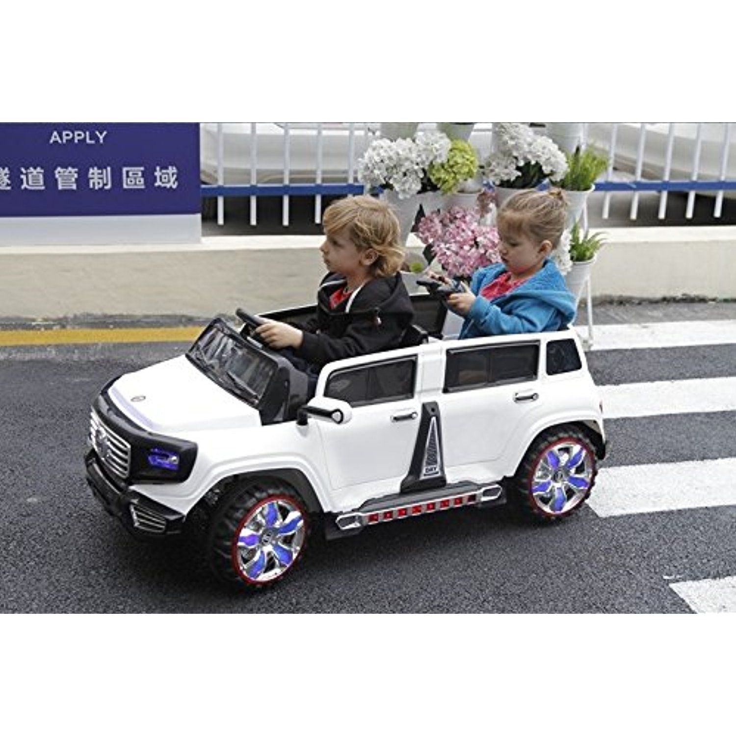 Ride On Car 2 Seater Limousine Style 4 Opening Doors 3 Speed Electric Car With Remote Control Battery Operated Car For Kids Two Motors Total 12v Electric
