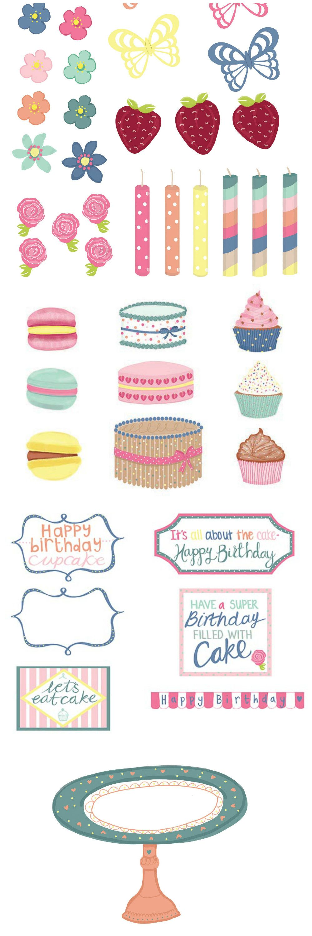 Free Card Making Ideas And Printables Part - 33: Build Your Own Baking Scene With These Free Card Making And Scrapbooking  Printables From Papercraft Inspirations
