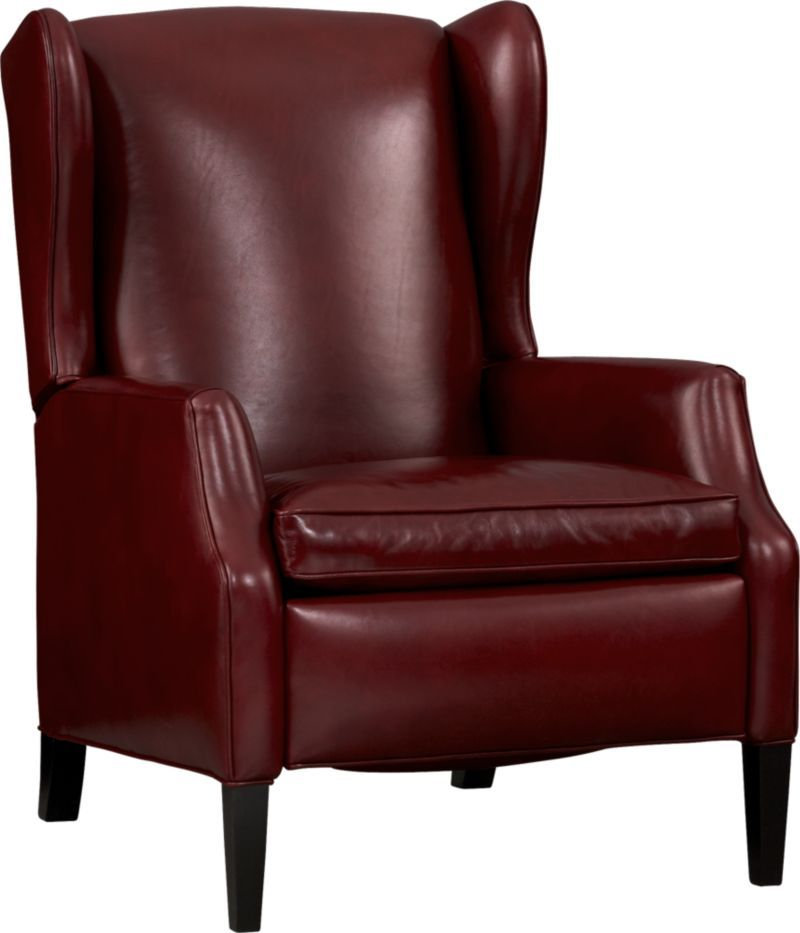 Sinclair Leather Recliner Crate and Barrel