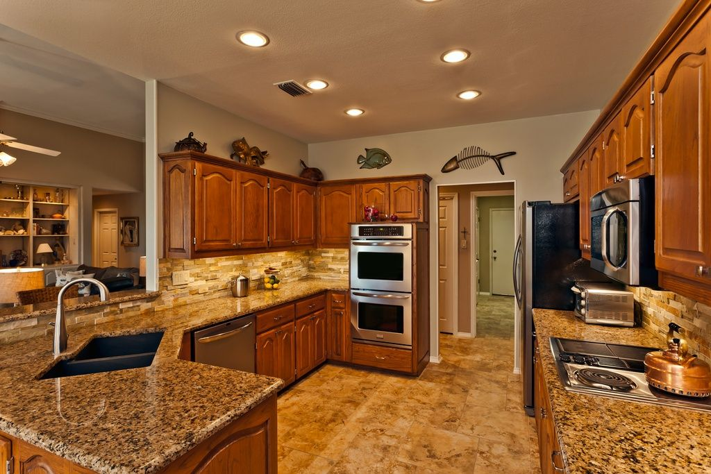 Traditional Kitchen With Sapphire Cabinet Doors Raised Panel