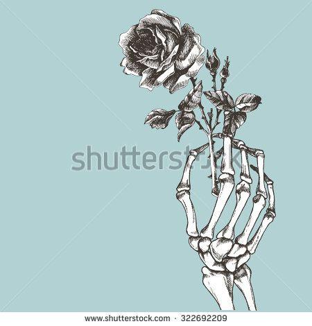 Skeleton Hand Holding Flower Google Zoeken Hands Holding