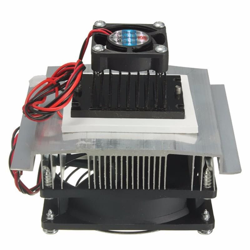Geekcreit Tec1 12705 Thermoelectric Peltier Refrigeration Cooling System Equipment Kit Cooler Fan Cooling System Cool Stuff Cooling Fan