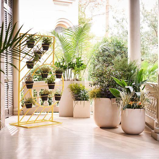 Radius Planters Westelm In 2020 Outdoor Garden Planters Outdoor Planters Indoor Planters
