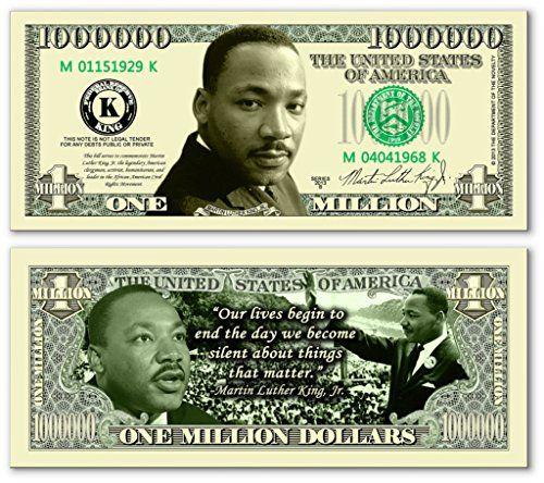 Pack of 1000 – Martin Luther King Jr Million Dollar Bills