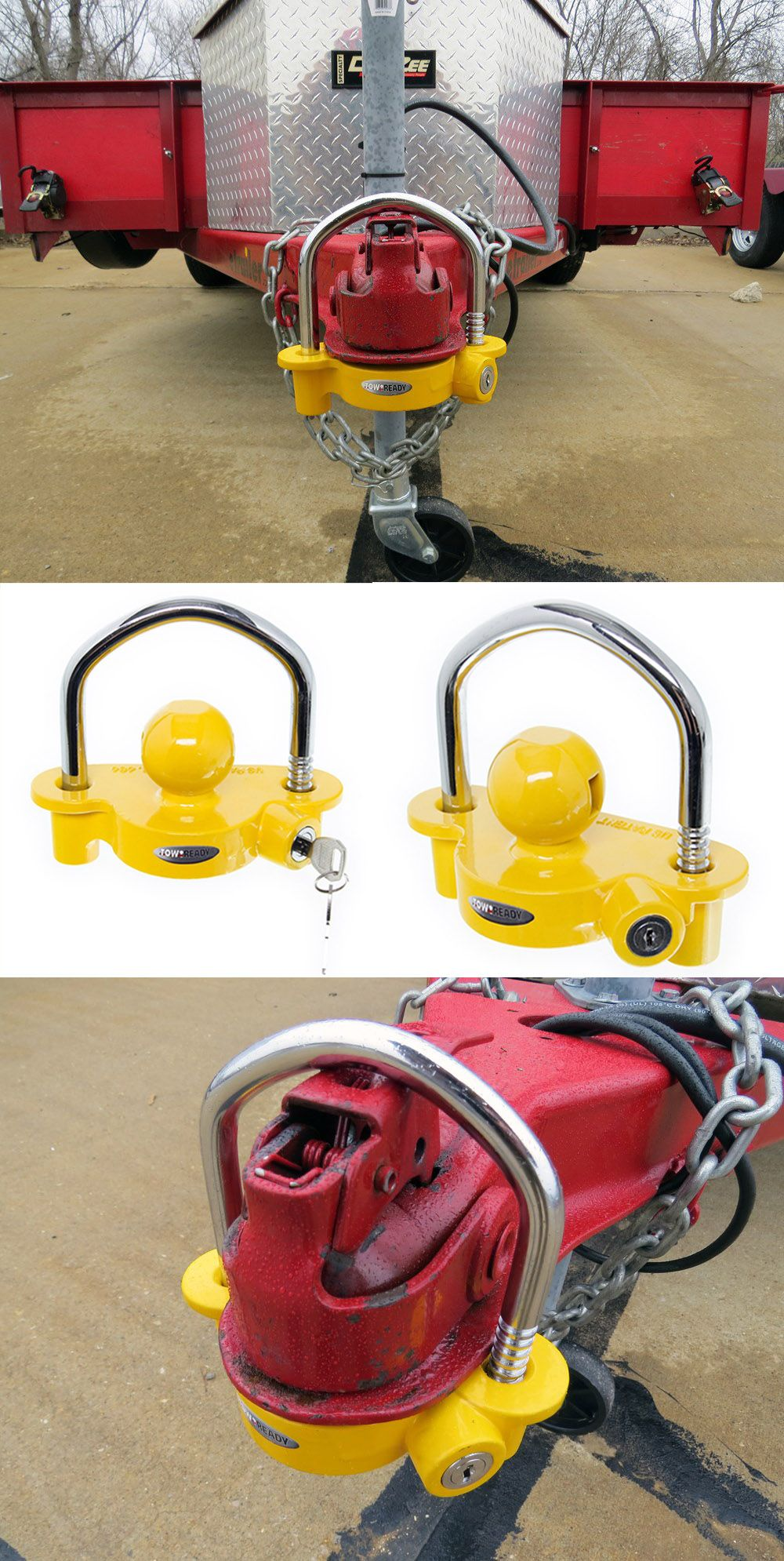This Trailer Coupler Lock is a universal fit and perfect