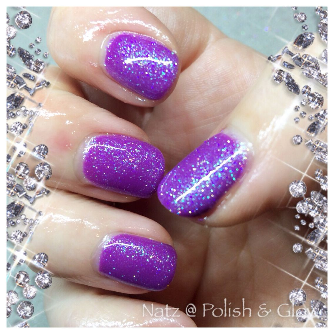 Ink London I61 - just juicy with CND Sizzling Sand Additive @Polish ...