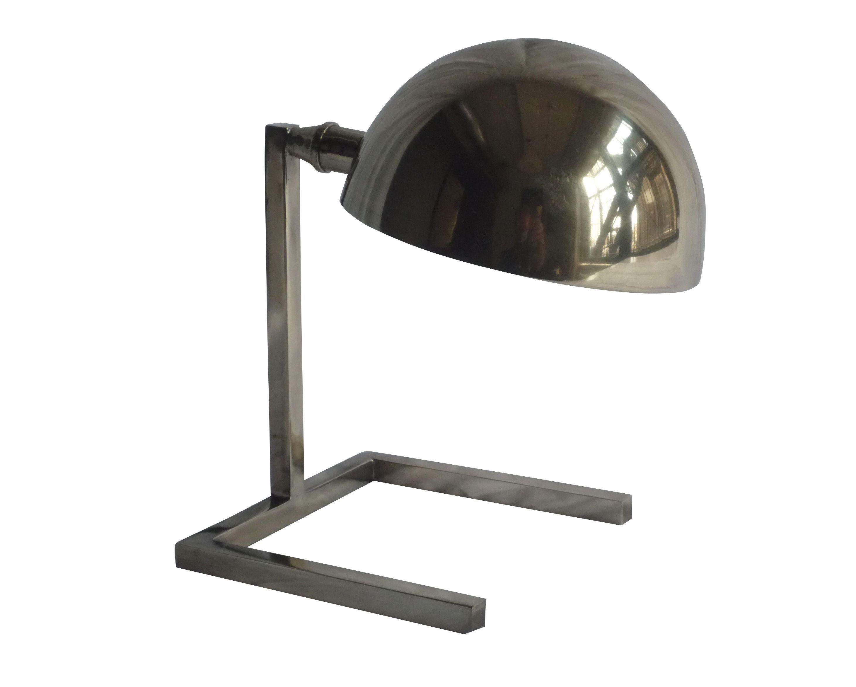 Modern Nickel Accent Lamp on Chairish.com