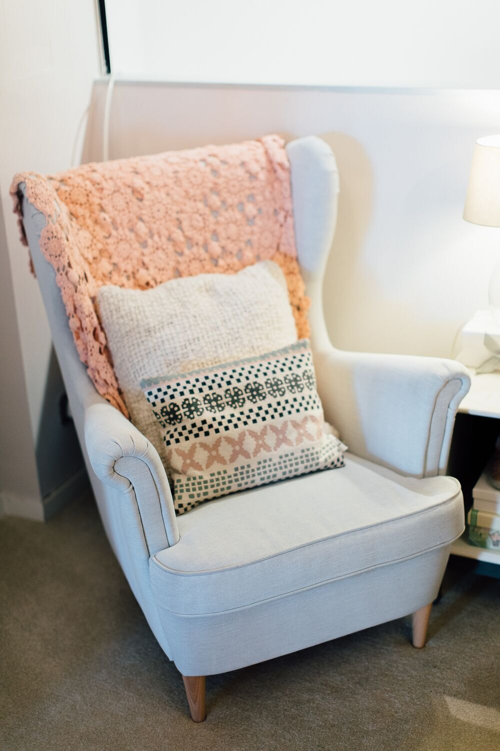Baby Nursing Chair Monochrome And Pink Nursery In An Nyc Style Loft Apartment Baby