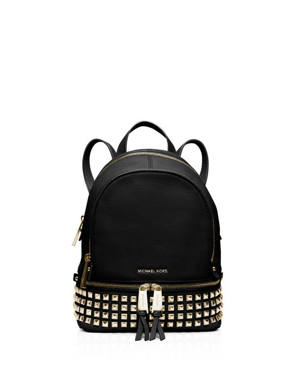 3738c63f77 Michael Michael Kors Extra Small Rhea Zip Backpack Studded Backpack