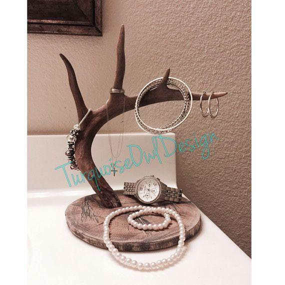 Asta Sostenedor De La Joyería Cuerno Por Turquoiseowldesign Deer Antler Crafts Art