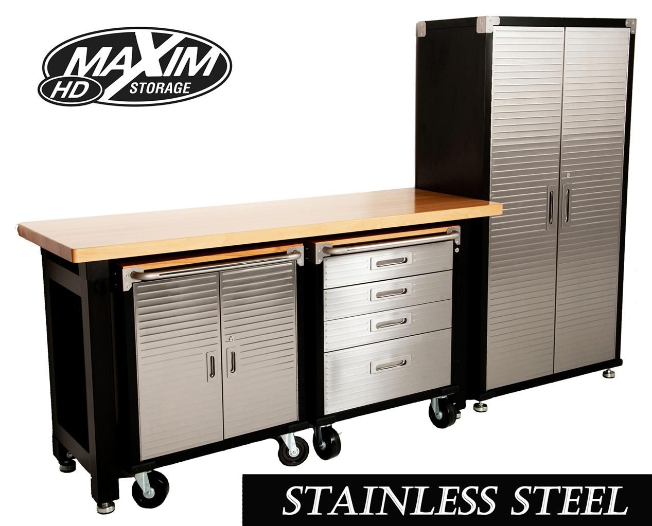 Maxim Hd 4 Piece Standard Garage Storage System Timber