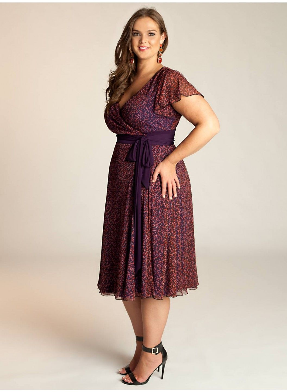 Elisha Plus Size Dress - Intro to Fall by IGIGI   Plus-size wardrobe ...