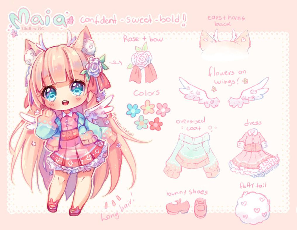Video Commission Fluffy And Flowers By Hyanna Natsu Deviantart Com On Deviantart Anime Chibi Anime Character Design Chibi Drawings