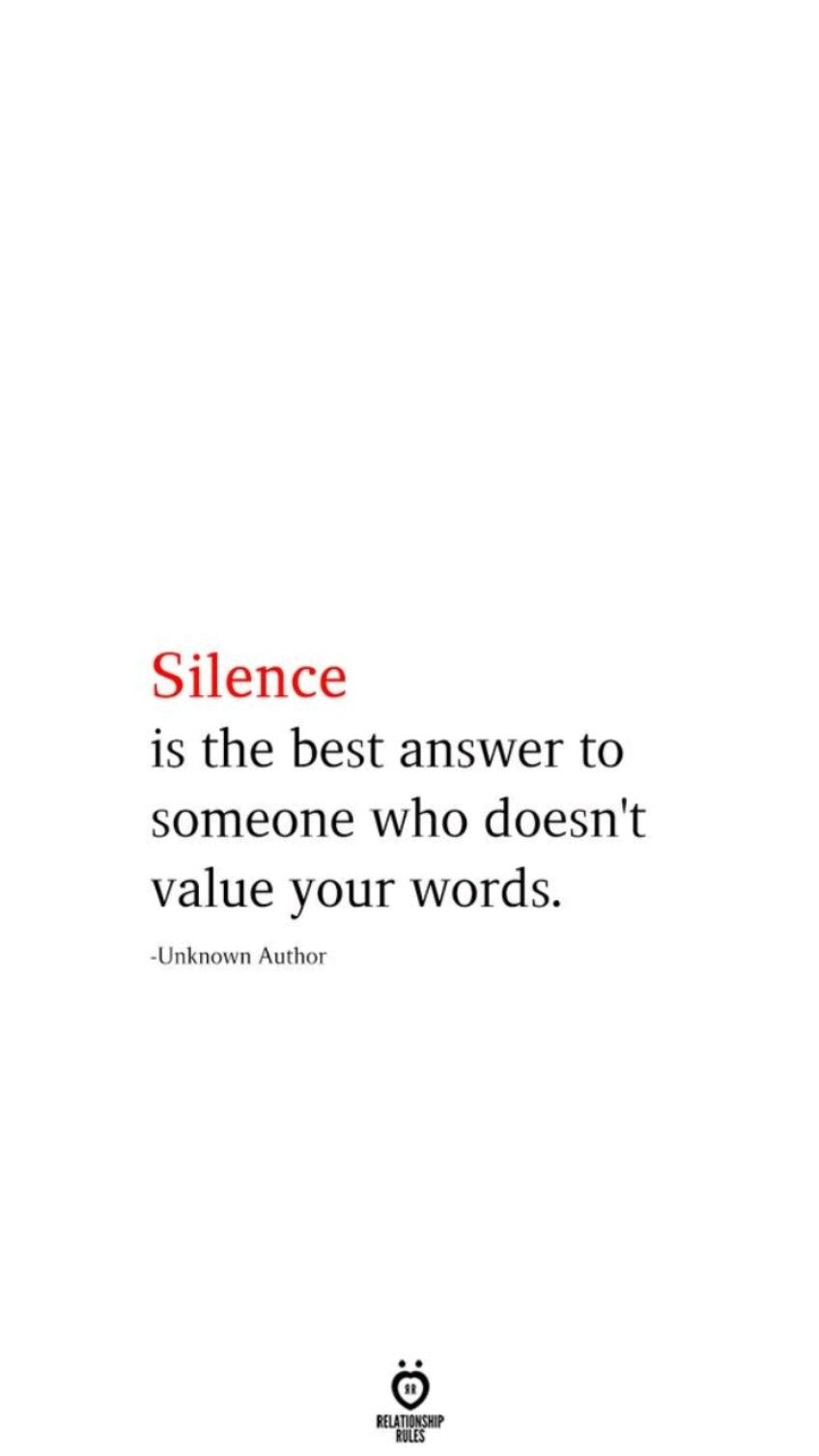 Silence is Bliss! Be wise & use your intuition 💙