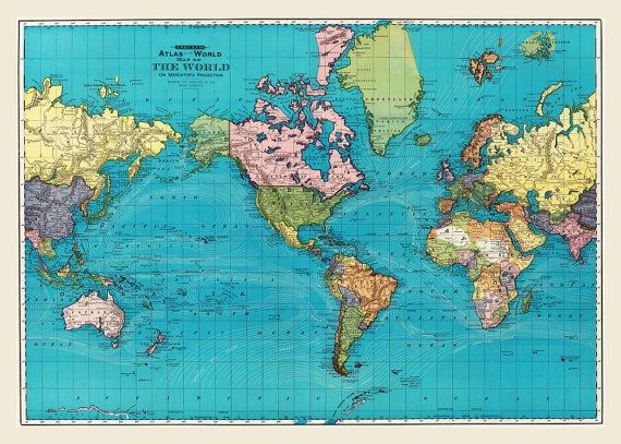 World map of the ocean currents full color 1893 by themapshop world map of the ocean currents full color 1893 by themapshop 1295 gumiabroncs Images