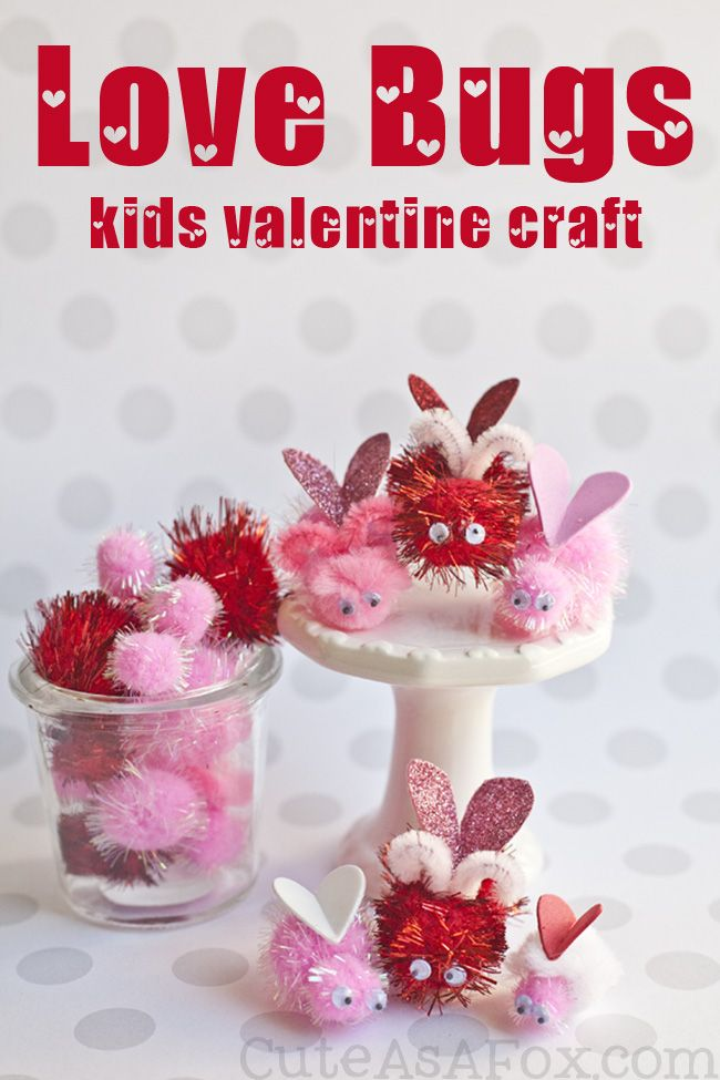 Love Bugs Valentine\'s Day Kids Craft | Recipe | Googly eyes, Pipes ...