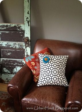 DIY removable pillow covers