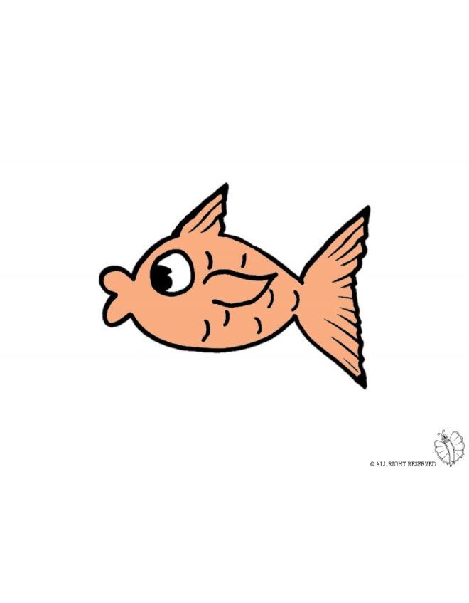 Disegno Di Pesce Tropicale A Colori Per Bambini Gratis