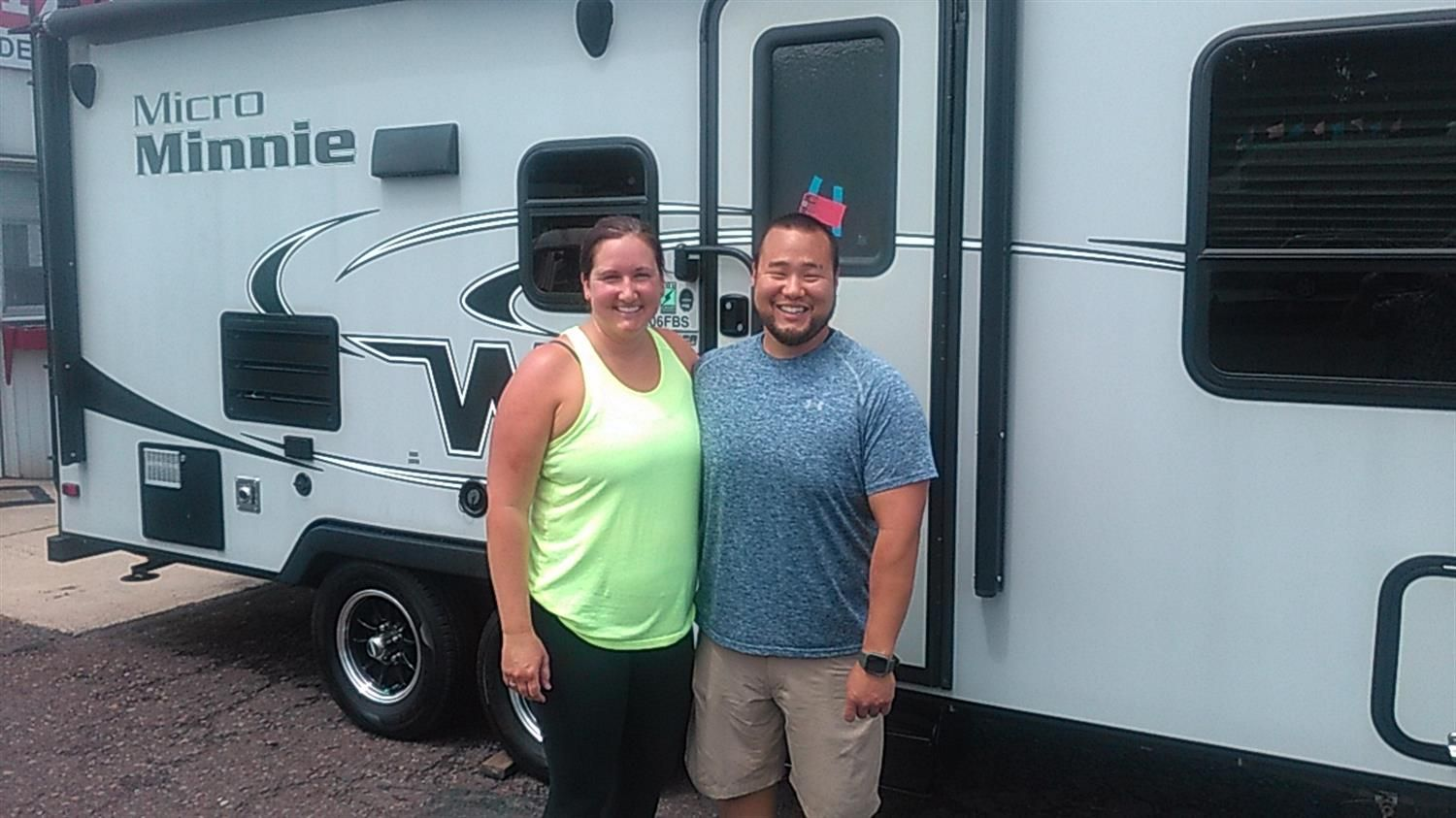 Jung And Krista Congratulations On Your New 2018 Winnebago Micro Minnie Thank You Again For The Opportunity To Earn Your Business Fretz In 2020 Winnebago Rv Minnie