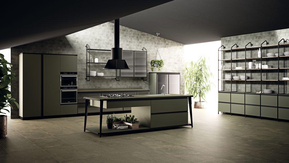 Diesel Open Workshop kitchen, Scavolini with Diesel #design - nolte k che lago