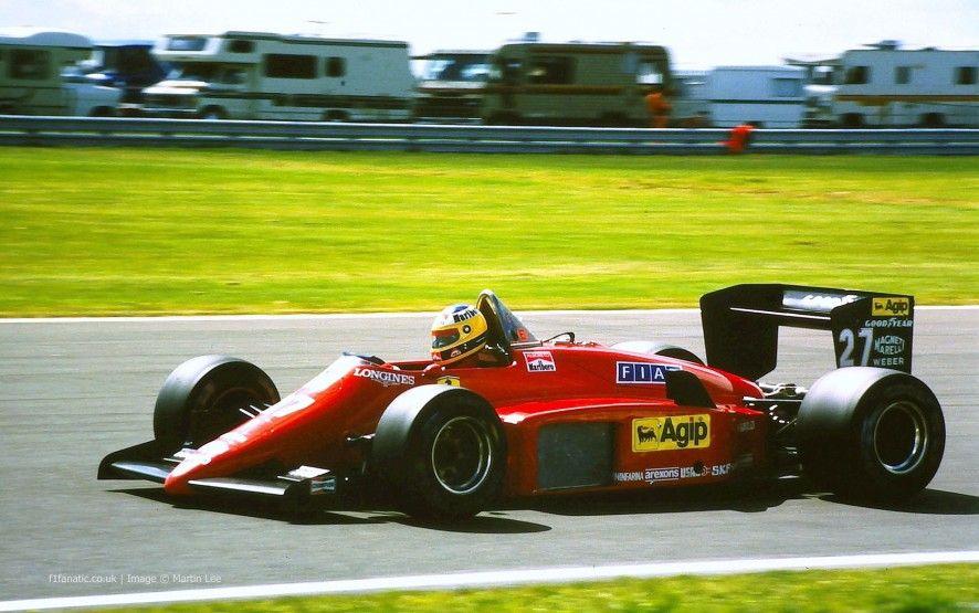 Michele Alboreto, Ferrari, Silverstone, 1985 Michele