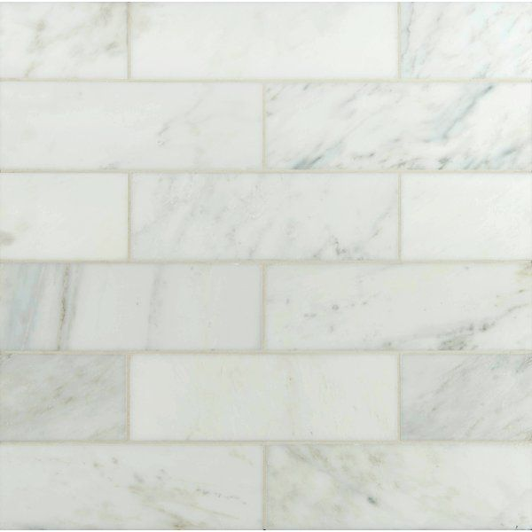 4 X 12 Polished Marble Tile In Carrara White Polished Marble Tiles Marble Tile