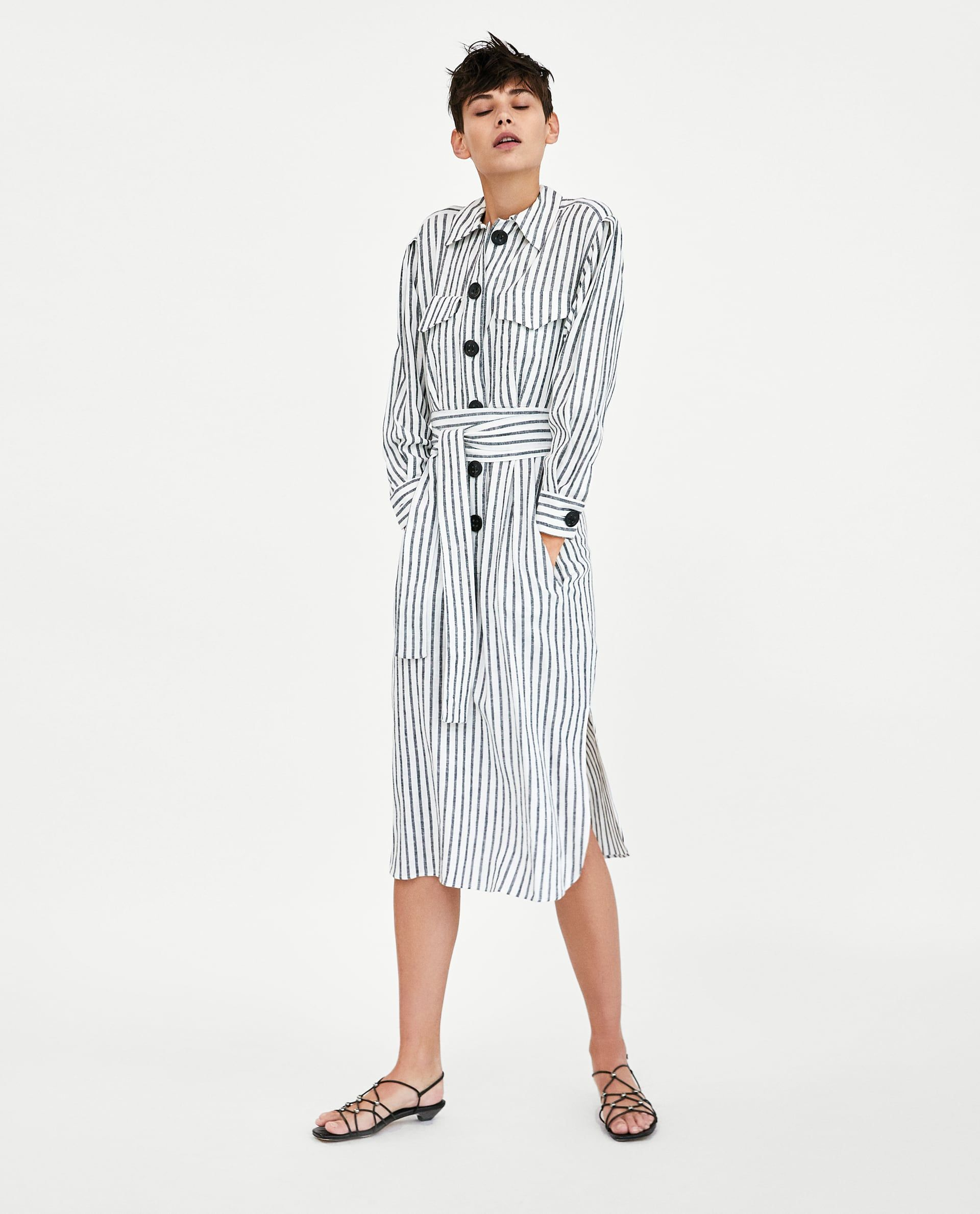 Image 3 of STRIPED DRESS WITH BOW from Zara  7c9082cde4