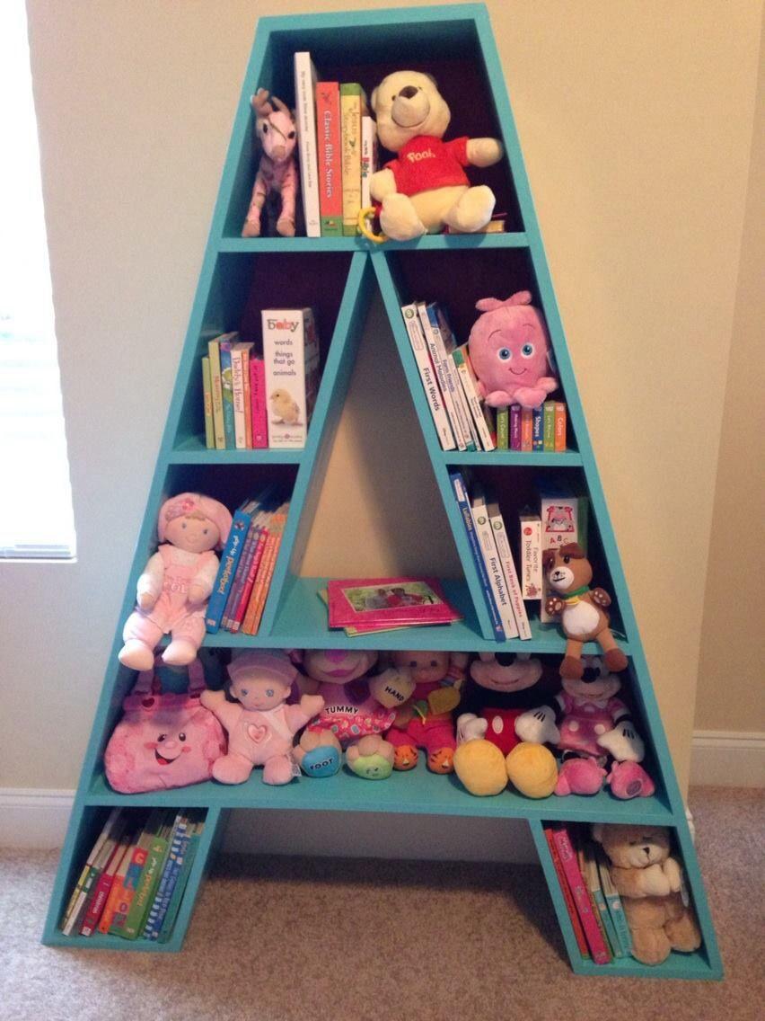 letter bookshelf