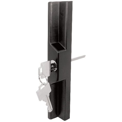 Prime Line Adjustable Black Diecast Outside Pull With Key C1139