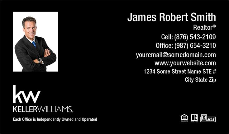 Black realty business card templates at